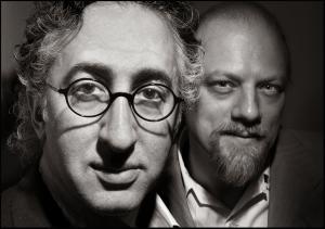 Artist David Greenberger and musician Paul Cebar